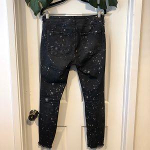 Zara Jeans - Zara Paint Splatter Distressed Skinny Jeans